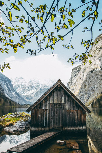 LAKE OBERSEE Architecture Beauty In Nature Branch Building Exterior Built Structure Cabin Clear Sky Day Mountain Nature Nature Nature On Your Doorstep Nature Photography Nature_collection Naturelovers No People Outdoor Outdoor Photography Outdoors Scenics Sky Tree Water Wood Wood - Material