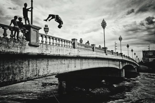 The Street Photographer - 2016 EyeEm Awards Blackandwhite Photography Passion Bridge