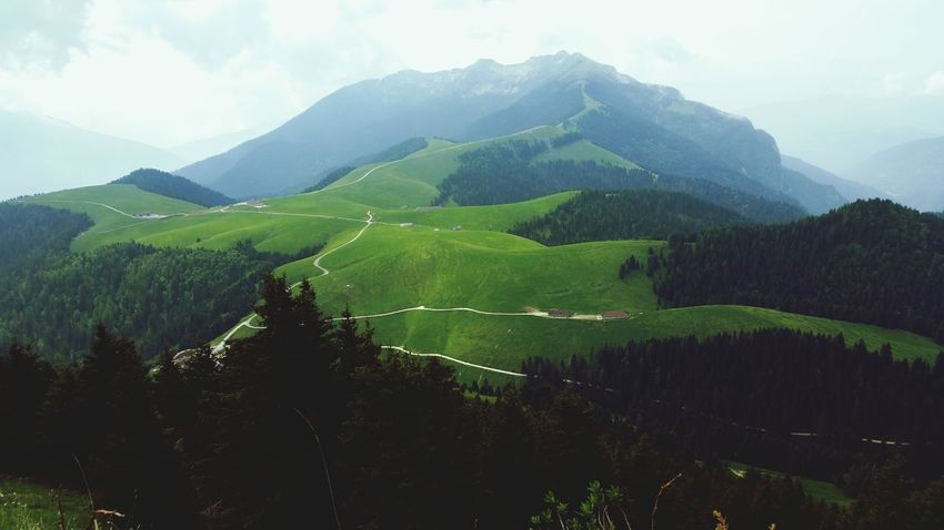 Trentino  Mountain Nature Tourism Landscape Mountain Range Beauty In Nature Passo Brocon Outdoors Cloud - Sky Road
