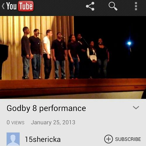 watch godby 8 performance on YouTube please....and thank you