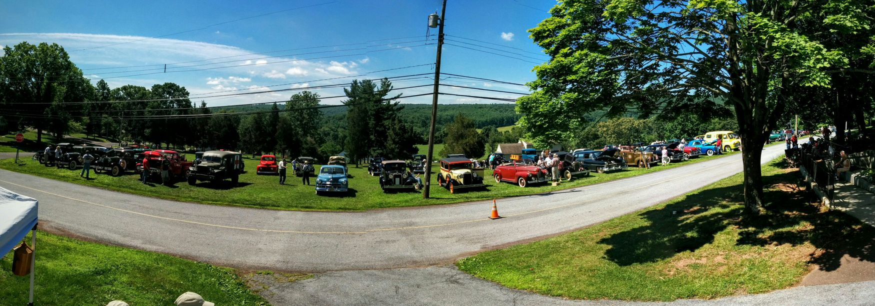 We may be approaching a record. Old Cars Panorama
