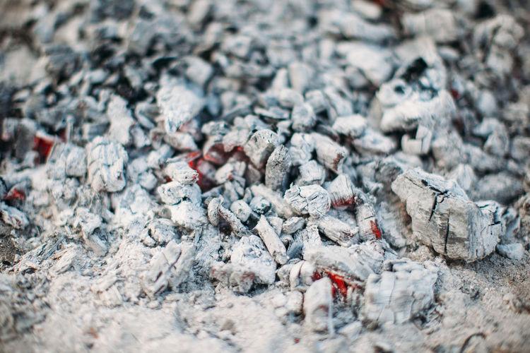 Full Frame Shot Of Burning Coals