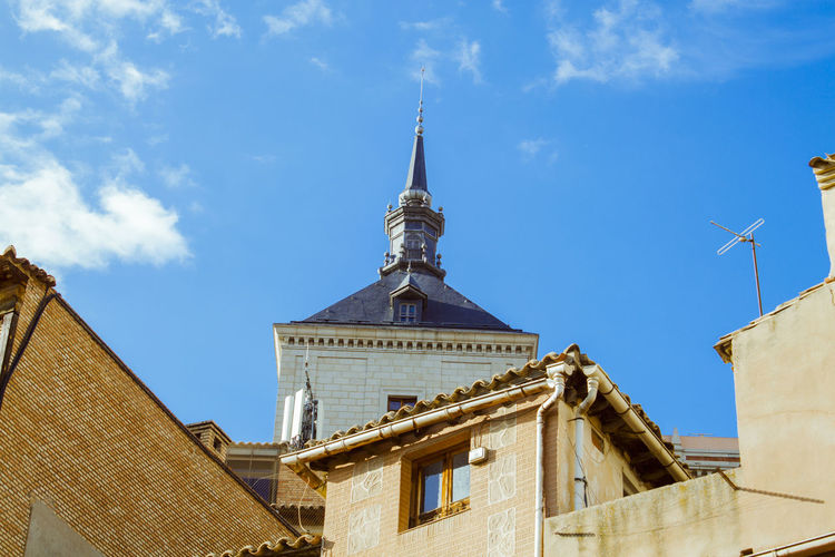 Blue Built Structure Day Low Angle View Sky SPAIN Toledo Spain Town