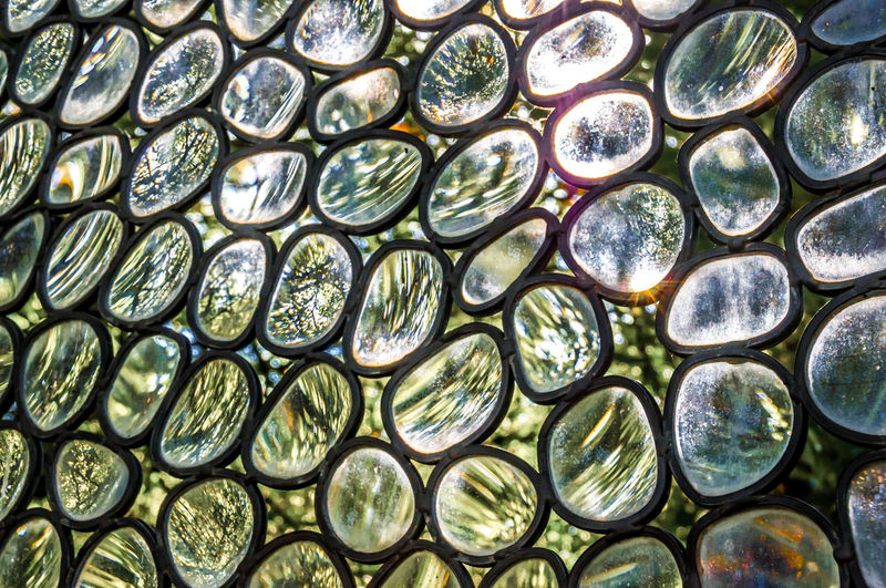 Detail Shot Of Glass Patterned Wall