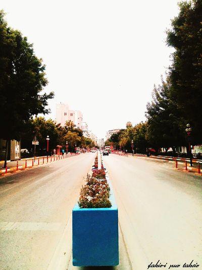 City Street On