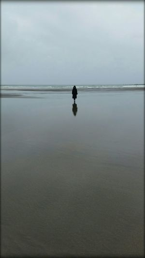 Solitary Figure Beachphotography At The Beach Reflection Walking Alone... Showcase: November Beachscape
