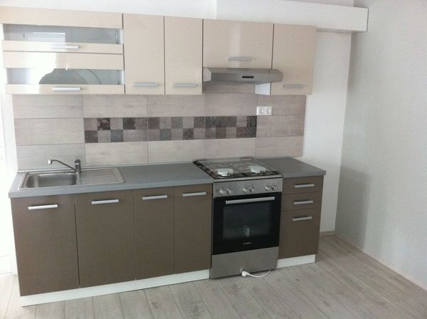 Simple kitchen furniture Cheap Kitchen House Interior Grey Wall