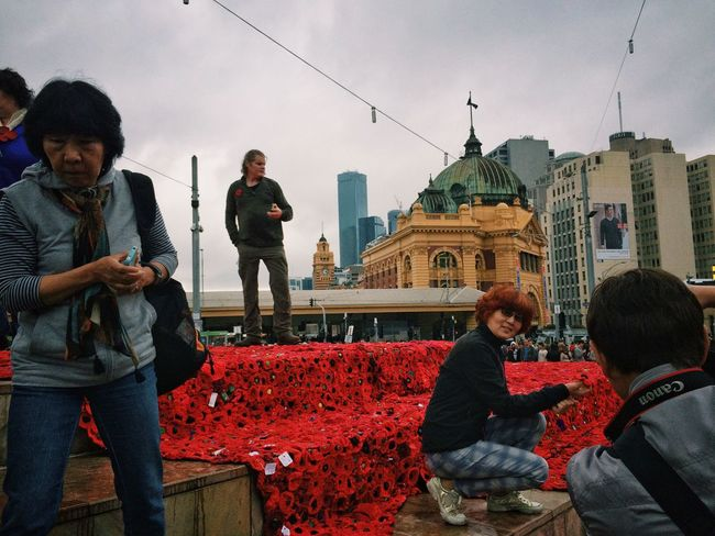 ANZAC Day, Melbourne, Australia EyeEm Melbourne Procamera Snapseed Vscocam Streetphotography Streetphoto_color Mobilephotography IPhoneography People Watching Anzac Day