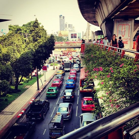 Busy lives in a big city BKK Thailand