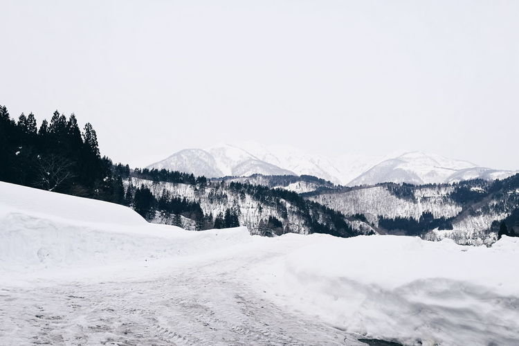 Snow Mountain Winter Nature Cold Temperature Beauty In Nature Outdoors No People Day Scenics Sky