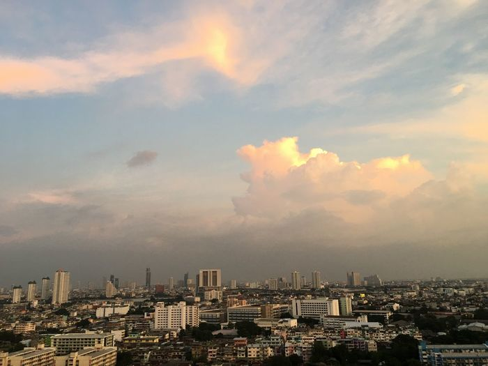 #cloud #clouds  #Nature  #beautifulnature #sky #EyeEmSelects #Thailand #Bangkok Architecture Building Exterior City Built Structure Cityscape Building Cloud - Sky Sky Nature No People Urban Skyline Residential District Landscape City Life Sunset Skyscraper Outdoors