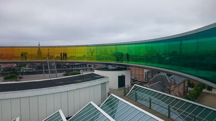 Your Rainbow Panorama at AROS in Århus, Denmark Architecture Aros City Cityscape Denmark Olafur Eliasson Rainbow Skyline Urban Århus