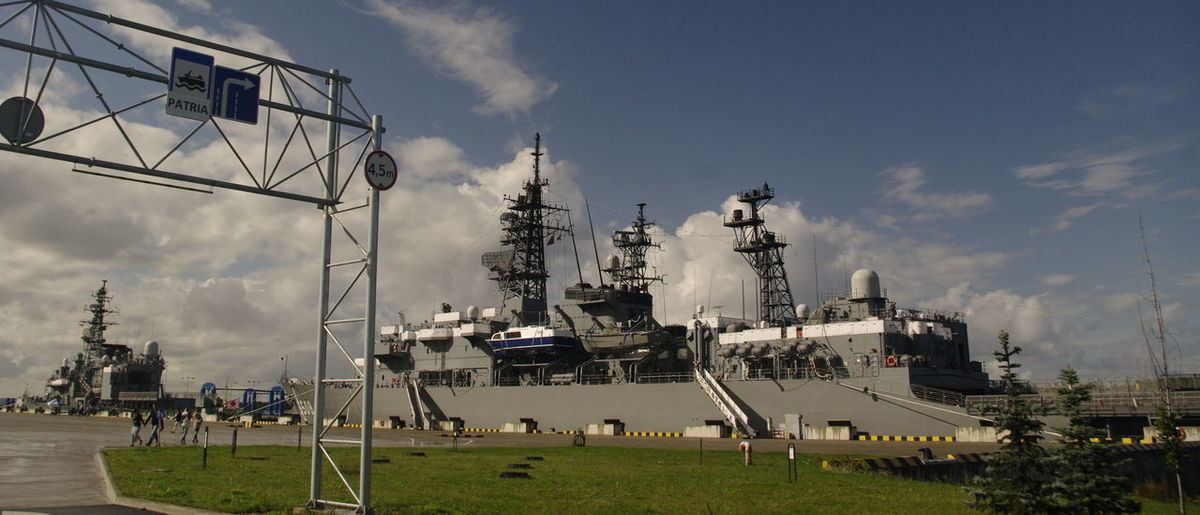 #japan #ship #warship Cloud - Sky Day Grass No People Outdoors Sky Sport