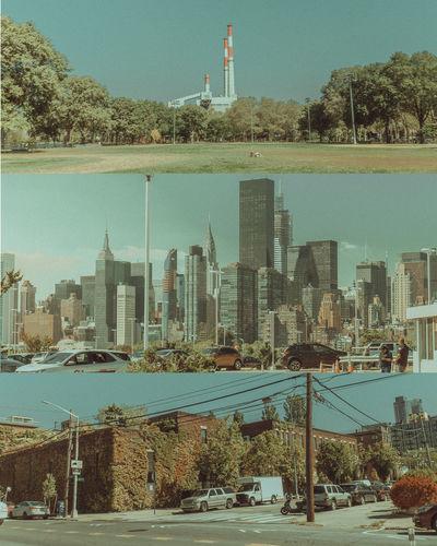 City by buildings against sky