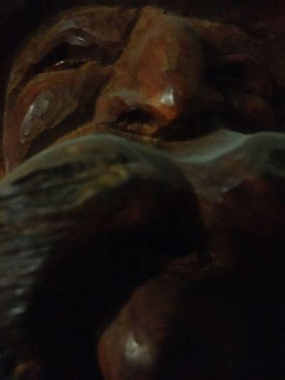 Close-up Wood Face