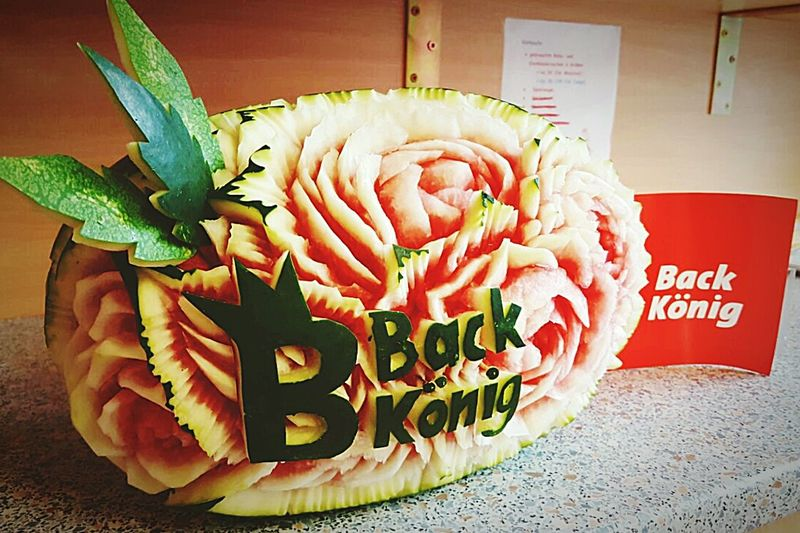 Obst Obstdeko Flowers Fruit Melon Wassermelone Back König