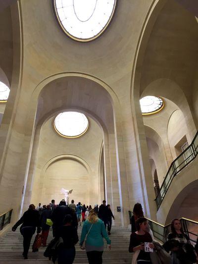 Arch History Tourism Travel Destinations Architecture Museum Large Group Of People LourveMuseum Paris ❤