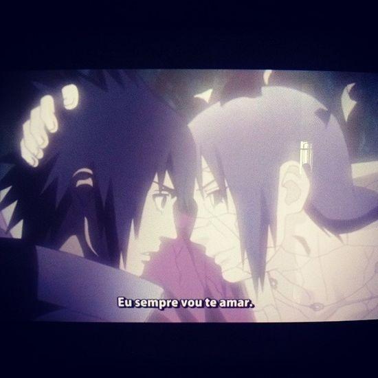 Itachi Sasuke Irmãos Emocionante chorardespedida