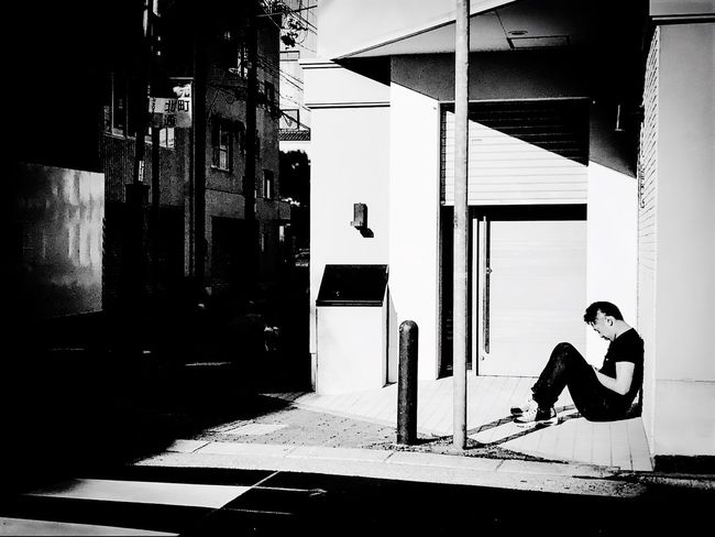 At a sunny place... Monochrome Blackandwhite Streetphotography Street Portrait Street Life
