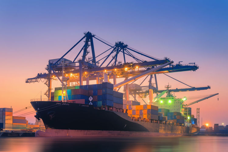 Shipping dock Architecture Business Cargo Container Commercial Dock Container Container Ship Freight Transportation Harbor Industry Loading Machinery Mode Of Transportation Nautical Vessel Outdoors Pier Sea Ship Shipping  Transportation Water