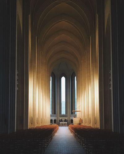 Indoors  Religion Built Structure Architecture Travel Destinations Kopenhagen Grundvigskirken Denmark Europe