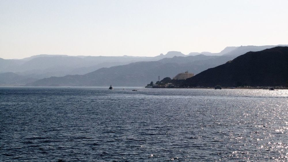 Sinai peninsula seen from the Gulf of Aqaba Sinai Egypt