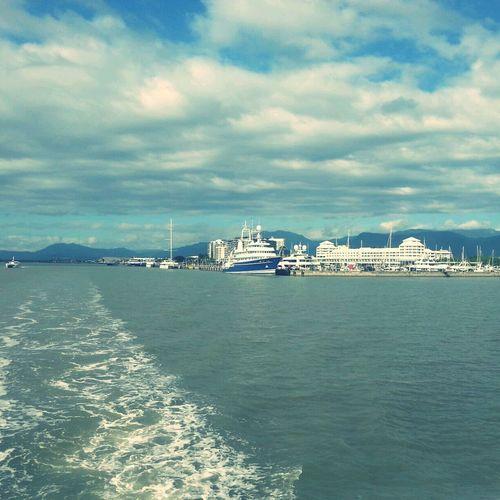 Leaving Cairns Pier Cairns