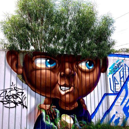 Graffiti mural 😊 Graffiti UrbanART Art, Drawing, Creativity Creativity Artistic Expression Artofvisuals Tree Spraypaint Sprayart EyeEm Best Shots EyeEm Gallery