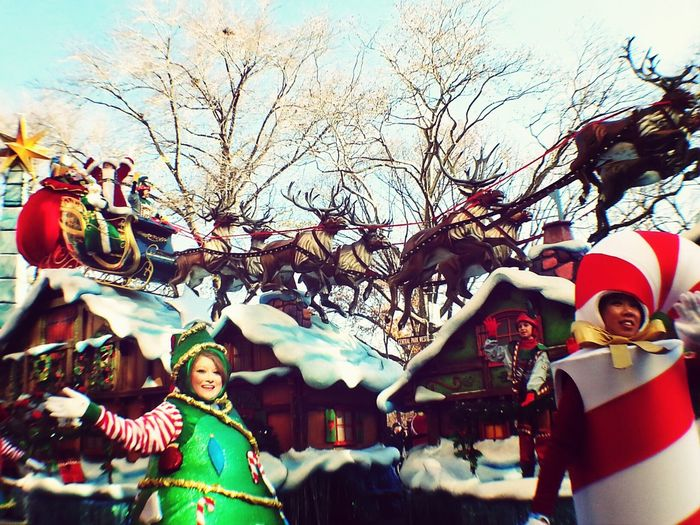 NYC Photography Macys Thanksgiving Day Parade Grand Stands Christmas Is Coming Sky_collection