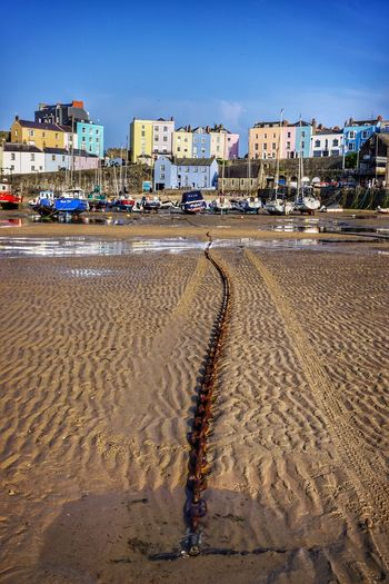 Tenby Wales Harbour Boats Anchor Seaside Seascape Beach Colourful Houses Painted Houses Painted Buildings Colourful Colourful Buildings Seascape Photography Beach Photography Eye4photography  Beachphotography EyeEm Best Shots EyeEm Best Edits Harbour View EyeEm Gallery Seashore Buildings Chain