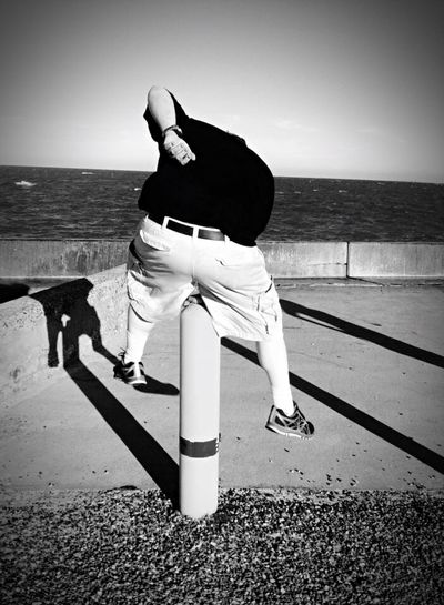 Just Jump!! Blackandwhite Photography Shadows Check This Out Hanging Out Taking Photos Rockport Texas Leaps And Bounds Enjoying Life IPhoneography Water