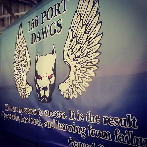 Port Dawg Air Force Air Transportation Design Indoors  Information Military Military Life Pitbulls Sign Symbol United States Air Force Us Military USAF
