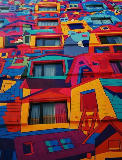 Multi Colored Backgrounds Outdoors Day Architecture No People Pattern Low Angle View