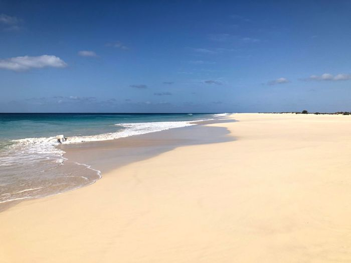 Boa Vista - Cape Verde Beach Sea Land Water Sand Sky Beauty In Nature Scenics - Nature Nature Wave No People Outdoors