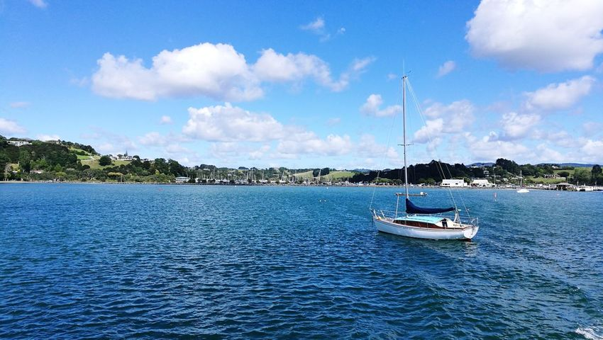 Sandspit Sandspit Nautical Vessel Sea Water Harbor Blue Sky Cloud - Sky Outdoors Travel Destinations Yacht Moored Vacations Scenics Yachting Sailboat Sailing Ship