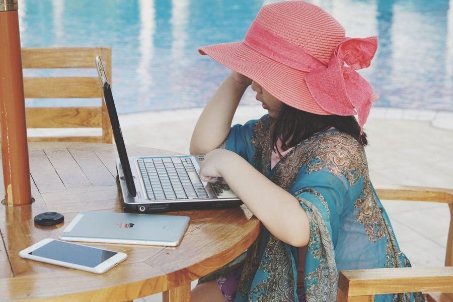 Showcase April Relaxing Enjoying Life Kota Kinabalu Little Girl Byme Poolside