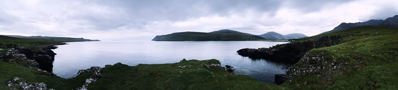 Sea Panorama Scotland Highlands View