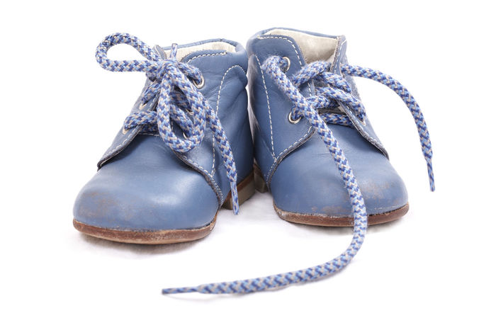 Baby Shoes Background Blue Bootees Boots Born Boy Child Childhood Clothes Clothing Cute Fashioned Feet Footwear Infant Isolated Kid Material New Shoe Texture Used Wear White