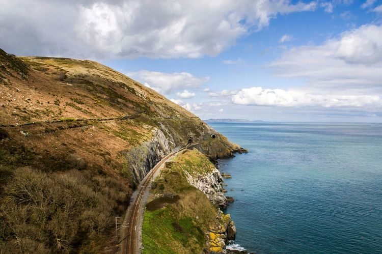 Road to Dublin Bray Ireland Ireland Landscapes Outdoors Beauty In Nature Sea Landscape Tranquility Travel Destinations Color Of Spring Spring Nature Railroad Railway Been There.