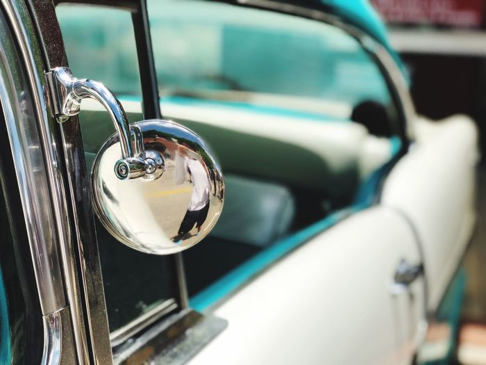 Side Mirror Side View Mirror The Week on EyeEm Metal Focus On Foreground Close-up Mode Of Transportation No People Car Motor Vehicle Selective Focus Day Vintage Car Silver Colored Retro Styled Transportation Land Vehicle Lock Security Outdoors Handle