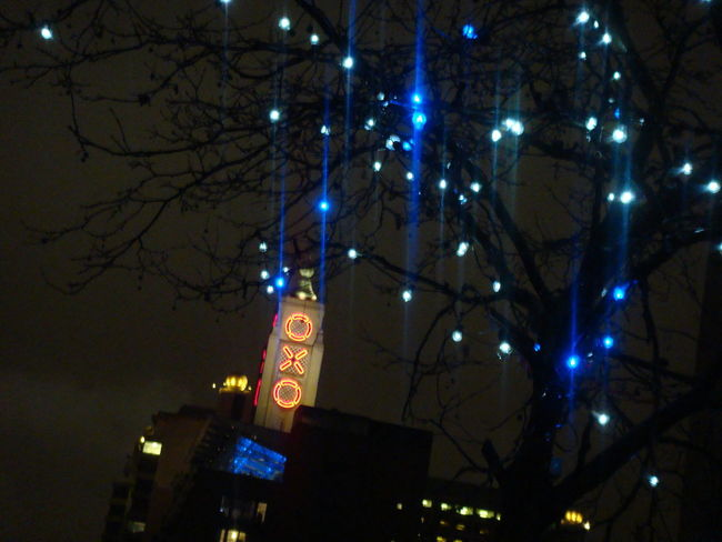 Oxo's Towering Legacy London Architecture Illuminated Landmark Low Angle View Oxo Oxo Tower South Bank Tree Lights