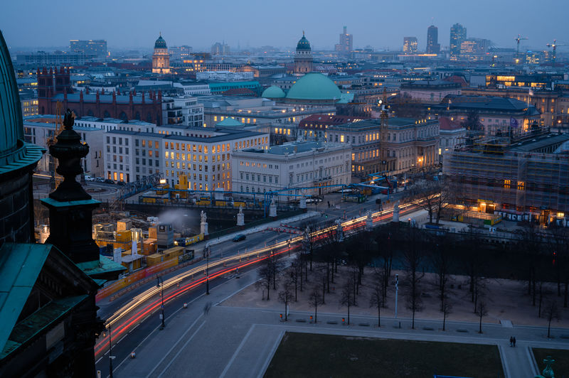 Building Exterior Architecture Built Structure Illuminated Dusk Motion City Life Long Exposure Nature Light Trail Berliner Dom Lustgarten Berlin