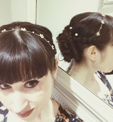 Hairdressing Hairstyle Pearls Wedding Hair