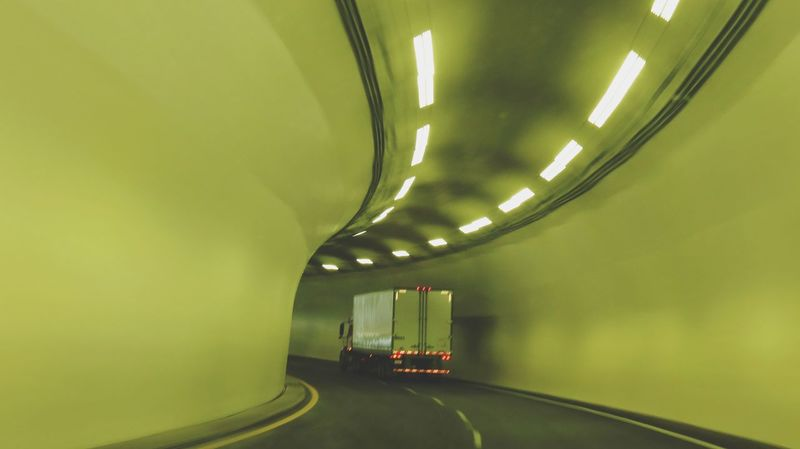 Green Color Illuminated No People Indoors  Day Mode Of Transport Driving Home Tunnel Vision Tunnel Entrance Tunnel View Connected By Travel