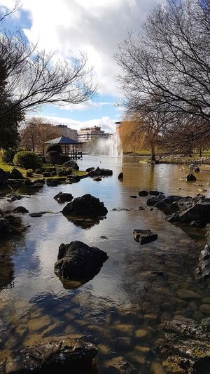 Parque De Yamaguchi Pamplona, Navarra Park Water Sky Cloud - Sky Nature Reflection No People Tranquility Beauty In Nature Outdoors Scenics - Nature Tranquil Scene First Eyeem Photo