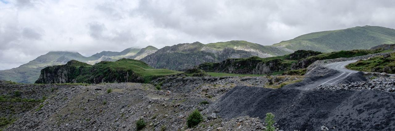Cymru Rock Wales Adventure Barren Boulder Cloud - Sky Fujifilm_xseries Grey Landscape Mountain Mountain Range Outdoors Rough Scenics Slate Street Lost In The Landscape