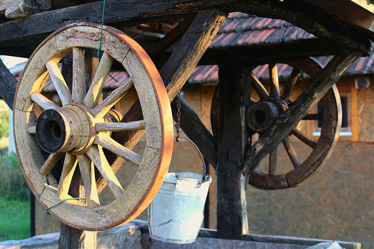 Close-up Day Gornjiadrovac No People Old Retro Rusty Stationary Vronsky Wheel Wood - Material
