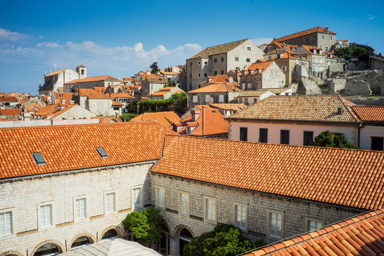 Old town of Dubrovnik, Croatia Architecture Building Exterior Built Structure Building Roof Residential District City Sky House Nature Town Day No People Roof Tile Cloud - Sky Tree Outdoors Plant Sunlight TOWNSCAPE Game Of Thrones Old Town, Dubrovnik.