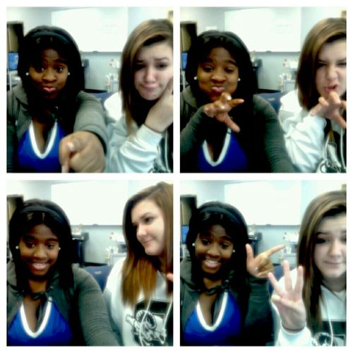 Me Nd My Friend Just Being Goofy .!!!