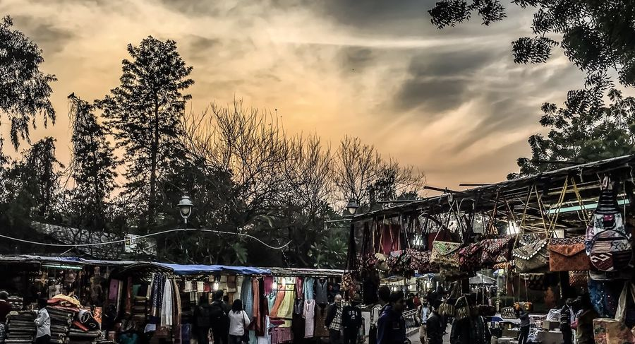 Evening Sky Market Indianstories Handicrafts EyeEmNewHere Sky Dillihaat Outdoors Lieblingsteil